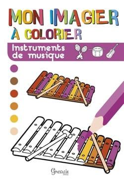 Mon imagier à colorier : instruments de musique laflutedepan