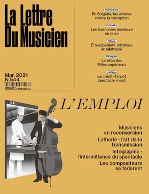 La Lettre du musicien n°544 (Mars 2021) : L'emploi Revue laflutedepan