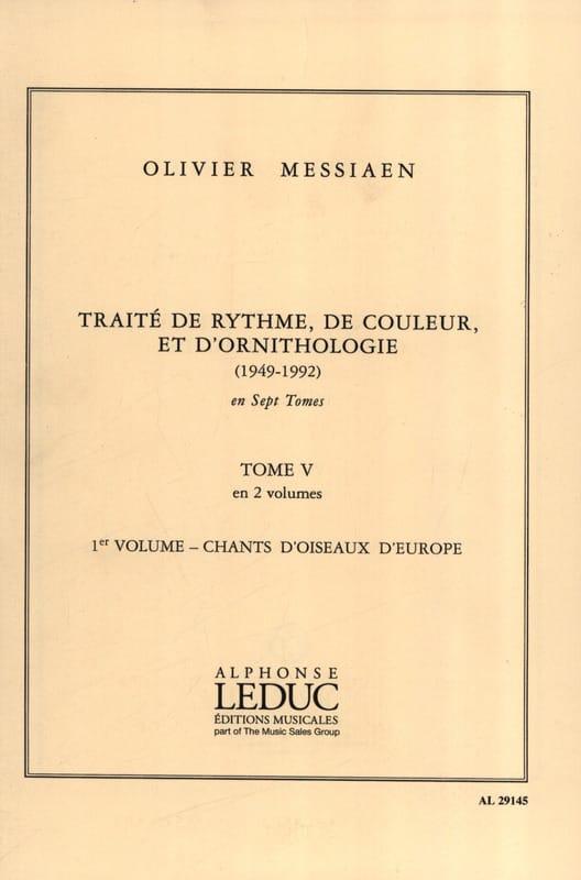 Traité de rythme, de couleur et d'ornithologie - Tome 5 vol. 1 - laflutedepan.com