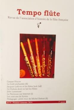 Tempo flûte n° 9 (Premier semestre 2014) Revue Livre laflutedepan