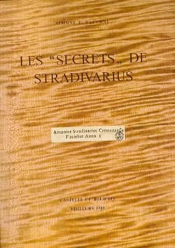 Les Secrets De Stradivarius - SACCONI Simone F. - laflutedepan.com