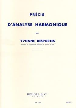 Précis d'analyse harmonique Yvonne DESPORTES Livre laflutedepan