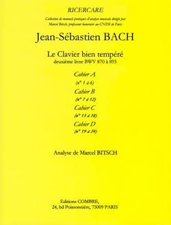 Analyse du Clavier bien tempéré de Bach : cahier A laflutedepan