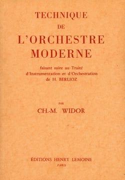 Technique de l'orchestre moderne WIDOR Livre laflutedepan