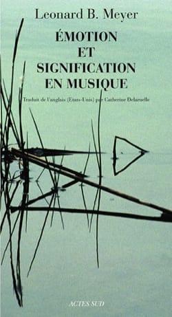 Emotion et signification en musique MEYER Leonard B. laflutedepan