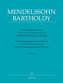 Performance Practices - Mendelssohn - Clive BROWN - laflutedepan.com