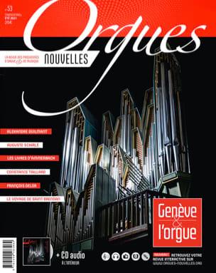 Orgues Nouvelles n°53 (été 2021) Revue Livre laflutedepan