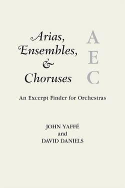 Arias, ensembles and choruses YAFFE John / DANIELS David laflutedepan