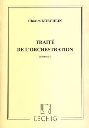 Traité de l'orchestration vol. 1 Charles KOECHLIN Livre laflutedepan