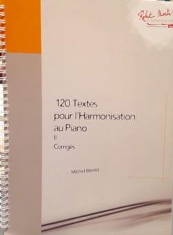120 textes pour l'harmonisation au piano, vol. 2 : Corrigés laflutedepan