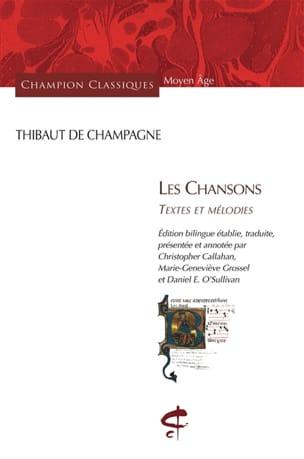 Les chansons : textes et mélodies DE CHAMPAGNE Thibaud laflutedepan