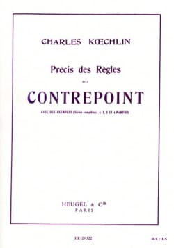 Charles KOECHLIN - Accurate rules of counterpoint - Livre - di-arezzo.co.uk