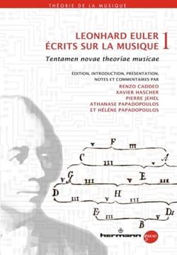 Écrits sur la musique vol. 1 Leonhard EULER Livre laflutedepan