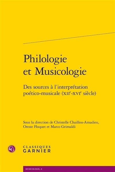 Philologie et musicologie - Collectif - Livre - laflutedepan.com