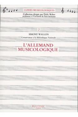 L'Allemand musicologique Simone WALLON Livre laflutedepan