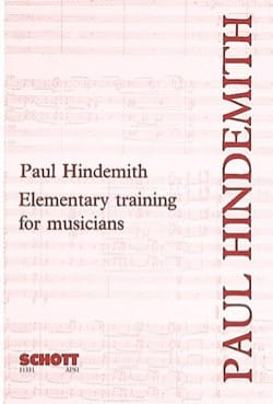 Elementary training for musicians HINDEMITH Livre laflutedepan
