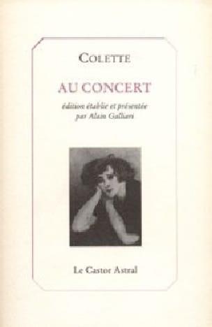 Au concert - COLETTE Sidonie Gabrielle - Livre - laflutedepan.com