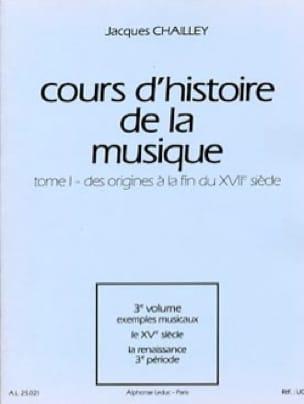 Cours d'histoire de la musique : Tome 1 vol. 3 - laflutedepan.com