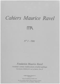 Cahiers Maurice Ravel, n° 2 (1986) Revue Livre Revues - laflutedepan