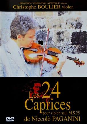 Christophe BOULIER - Los 24 caprichos de Paganini para violín solo - Livre - di-arezzo.es