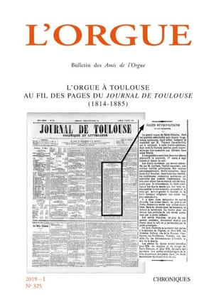 L'orgue, n° 325 (2019-I) Revue Livre Les Instruments - laflutedepan
