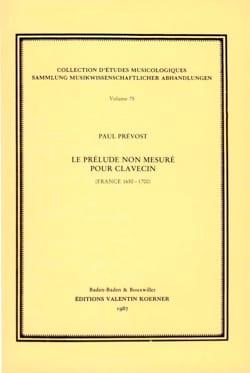 Le prélude non mesuré pour clavecin (France 1650-1700) laflutedepan