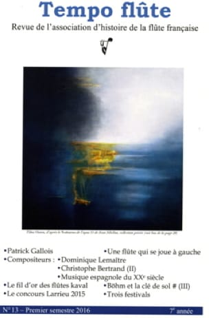 Tempo flûte n° 13 Premier semestre 2016 - Revue - laflutedepan.com