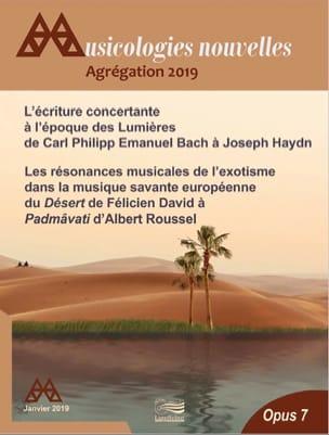 Musicologies Nouvelles - Agrégation 2019 laflutedepan