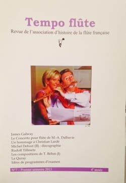 Tempo flûte n° 7 (Premier semestre 2013) Revue Livre laflutedepan