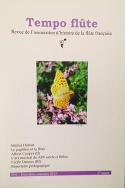Tempo flûte n° 6 (Deuxième semestre 2012) Revue Livre laflutedepan