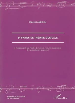 54 fiches de théorie musicale Michaël ANDRIEU Livre laflutedepan