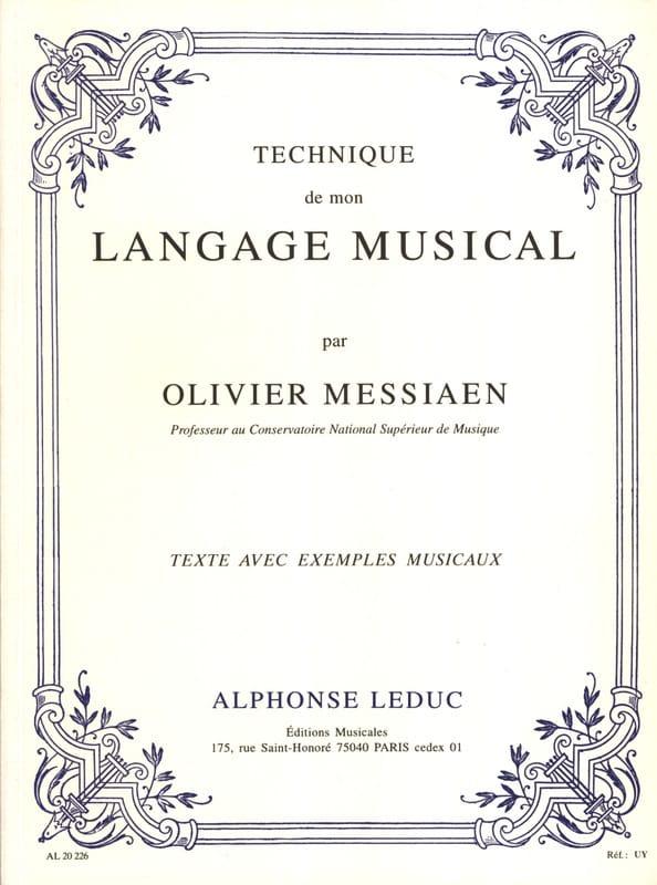 Technique de mon langage musical - MESSIAEN - Livre - laflutedepan.com