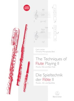 The Techniques of Flute Playing II (Livre en anglais - allemand) laflutedepan