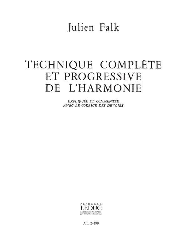 Technique complète et progressive de l'harmonie - Corrigé des devoirs - laflutedepan.com