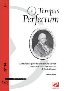Tempus Perfectum, n° 14 - L'art d'enseigner le toucher du clavier, volume 3 laflutedepan