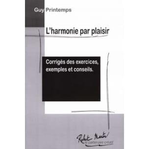 L'harmonie par plaisir : Corrigés des exercises, exemples et conseils laflutedepan