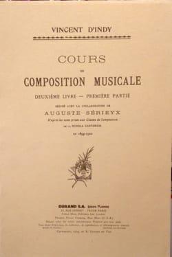 Cours de composition musicale : Vol. 2, 1ere partie laflutedepan