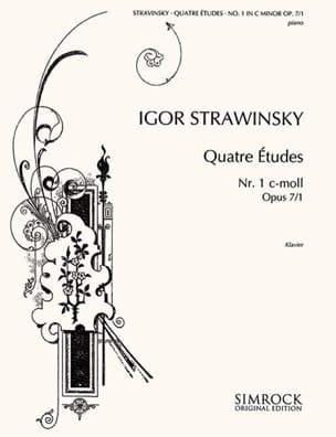 4 Etudes Opus 7-1 STRAVINSKY Partition Piano - laflutedepan