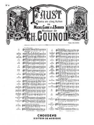 Faites-Lui mes Aveux. Faust - GOUNOD - Partition - laflutedepan.com