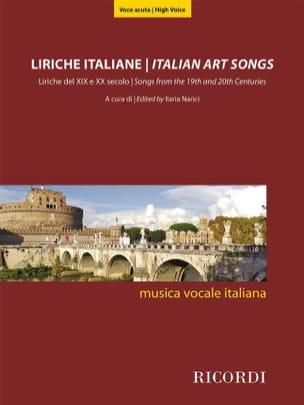 Liriche Italiane - Voix haute Partition Recueils - laflutedepan