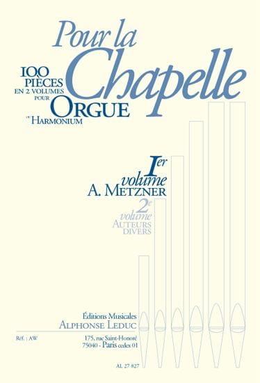 Pour la Chapelle Volume 1 - Divers - Partition - laflutedepan.com