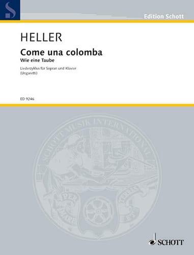 Come Una Colomba - Barbara Heller - Partition - laflutedepan.com