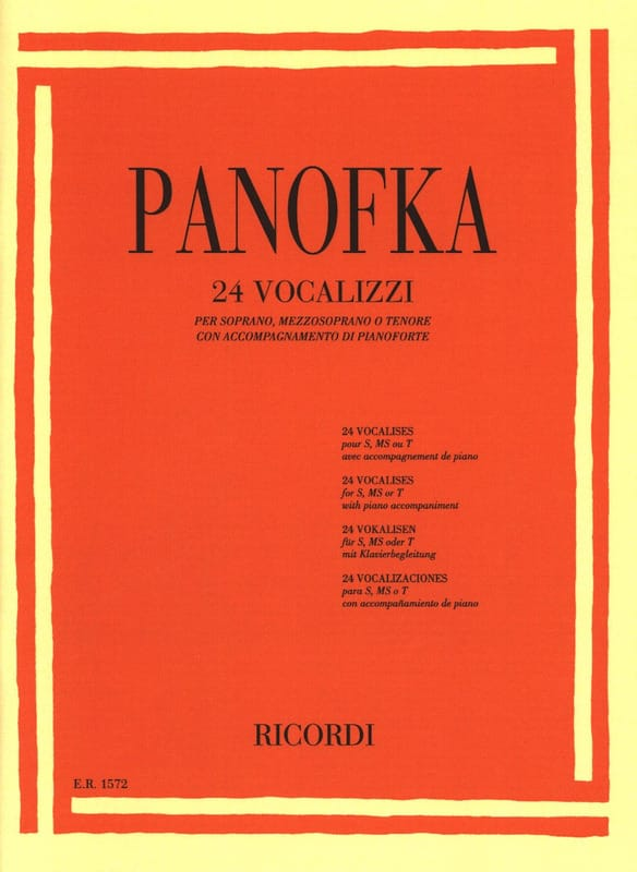 24 vocalises op. 81 Soprano, mezzo-soprano et ténor - laflutedepan.com