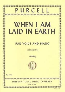 When I Am Laid In Earth. Didon et Enée PURCELL Partition laflutedepan