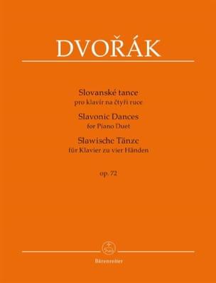 Danses Slaves op. 72. 4 mains DVORAK Partition Piano - laflutedepan