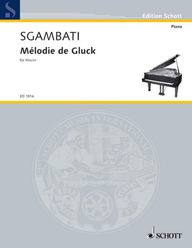 Mélodie de Gluck - GLUCK - Partition - Piano - laflutedepan.com