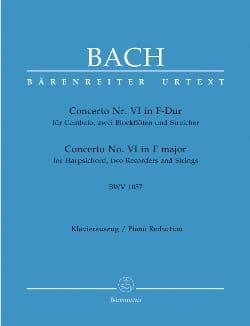 Concerto pour Clavier En Fa Majeur BWV 1057 BACH laflutedepan