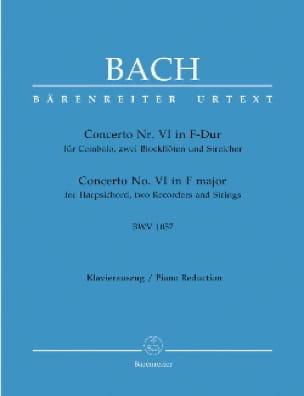 Concerto pour Clavier En Fa Majeur BWV 1057 - BACH - laflutedepan.com