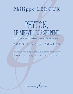 Phyton, le merveilleus serpent Philippe Leroux Partition laflutedepan