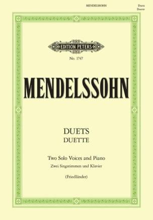 Duette. 19 Duos MENDELSSOHN Partition Duos - laflutedepan